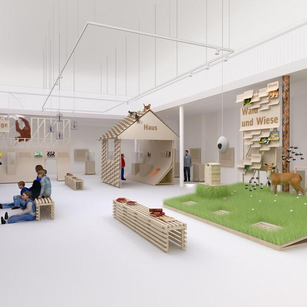 Children exhibition about animals in literature