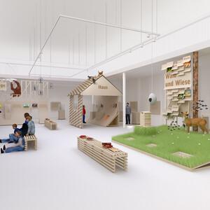 Kinderausstellung über Tiere in der Literatur