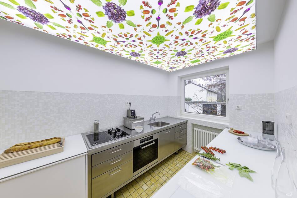 Übereckperspektive 50er Jahre Küche