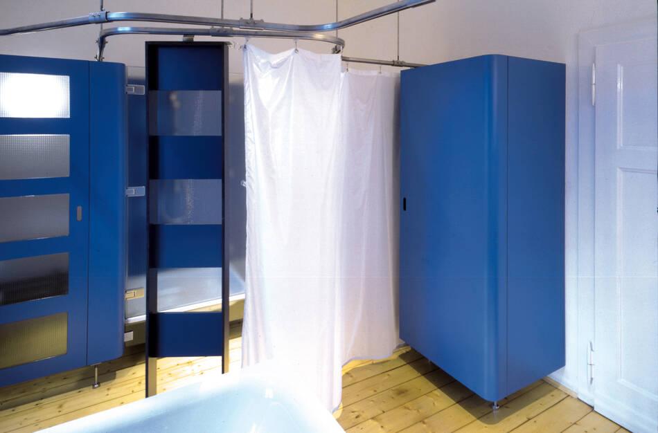 Duschbereich mit Vorhang