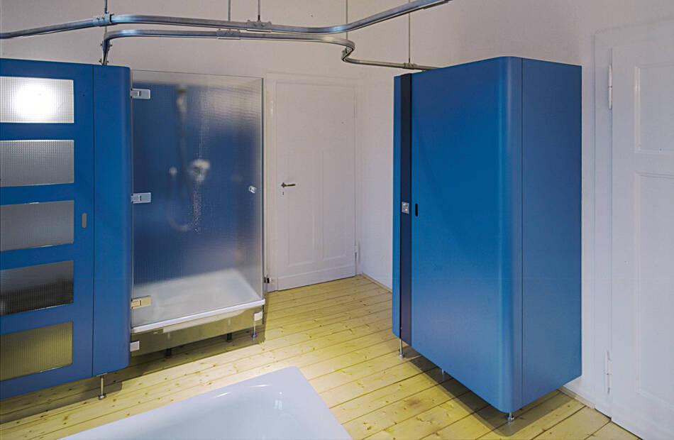 Duschbereich ohne Vorhang
