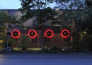Leuchtensequenz der Außenfassade